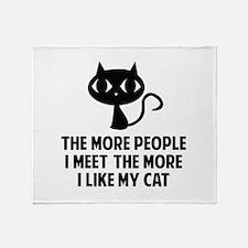 People I Meet Throw Blanket
