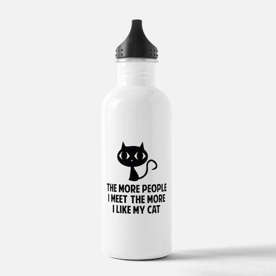 People I Meet Sports Water Bottle