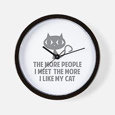 People I Meet Wall Clock