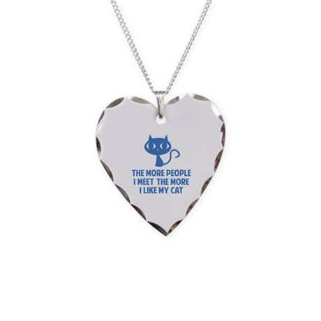 People I Meet Necklace Heart Charm