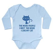 People I Meet Long Sleeve Infant Bodysuit