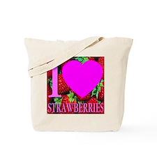 I (Heart) Strawberries Tote Bag