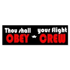 OBEY (red) Bumper Bumper Sticker