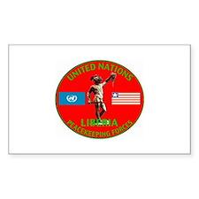 UN Liberia Rectangle Decal