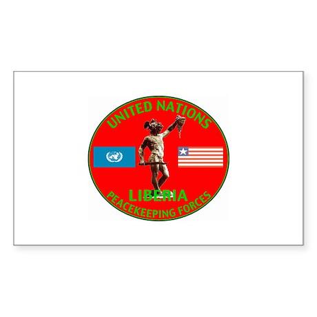 UN Liberia Rectangle Sticker