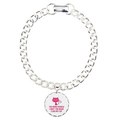 People I Meet Charm Bracelet, One Charm