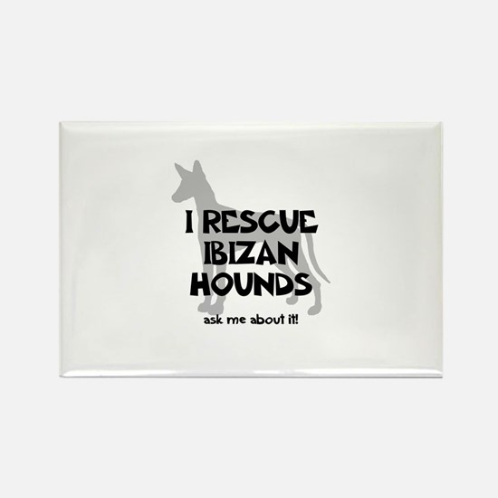 I RESCUE Ibizan Hounds Rectangle Magnet