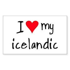 I LOVE MY Icelandic Decal