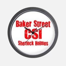 Baker Street CSI Wall Clock