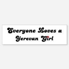 Loves Yerevan Girl Bumper Bumper Bumper Sticker