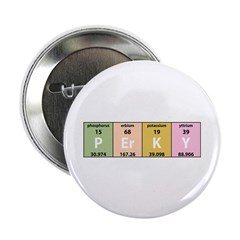 """Chemistry Perky 2.25"""" Button (10 pack)"""