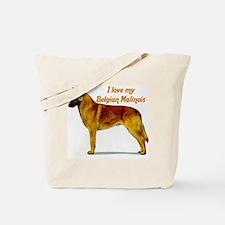 """Belgian Malinois"" Tote Bag"