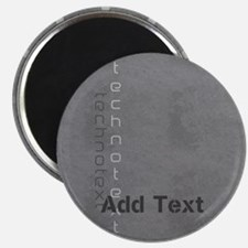 Cool Grey Techno Text Leather Look Magnets