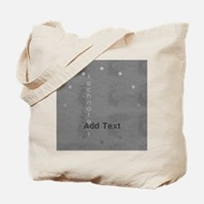 Cool Grey Techno Text Leather Look Tote Bag