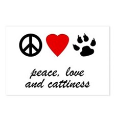 Peace, Love, Cattiness Postcards (Package of 8)