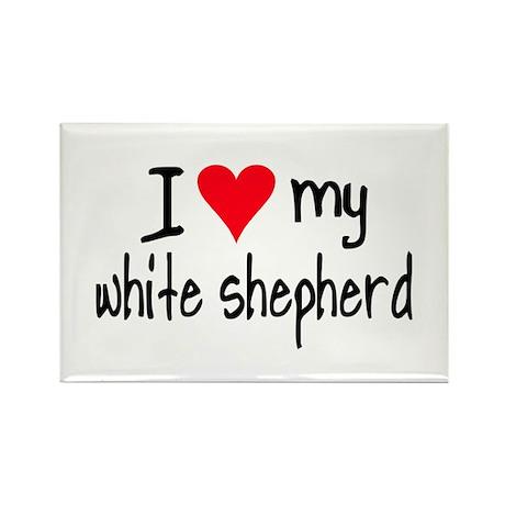 I LOVE MY White Shepherd Rectangle Magnet (10 pack