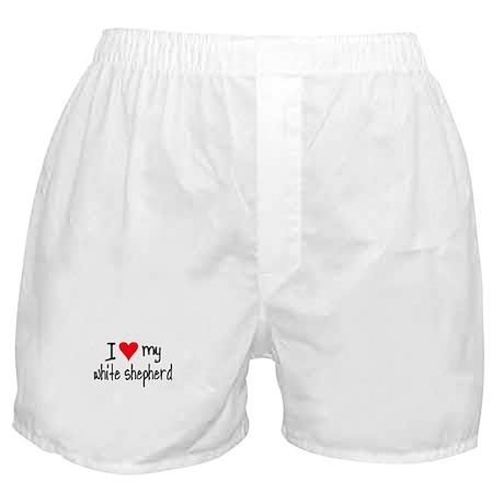I LOVE MY White Shepherd Boxer Shorts