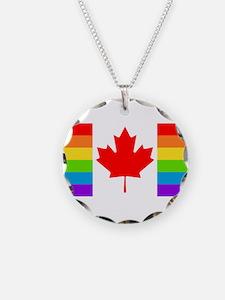 Canadian Gay Pride Flag Necklace