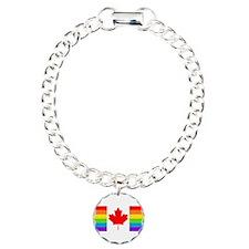 Canadian Gay Pride Flag Bracelet