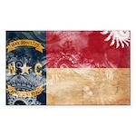 North Carolina Flag Sticker (Rectangle 50 pk)