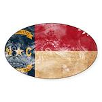 North Carolina Flag Sticker (Oval 10 pk)