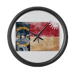 North Carolina Flag Large Wall Clock