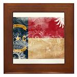 North Carolina Flag Framed Tile