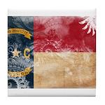 North Carolina Flag Tile Coaster