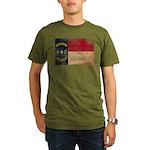 North Carolina Flag Organic Men's T-Shirt (dark)