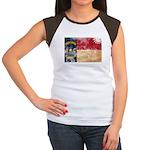 North Carolina Flag Women's Cap Sleeve T-Shirt