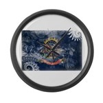 North Dakota Flag Large Wall Clock