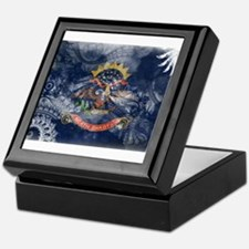 North Dakota Flag Keepsake Box