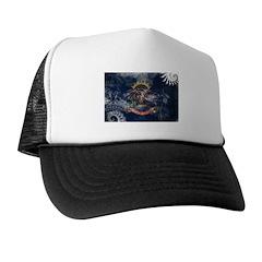 North Dakota Flag Trucker Hat