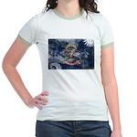 North Dakota Flag Jr. Ringer T-Shirt