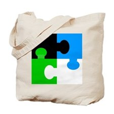 Cool Cow puzzle Tote Bag