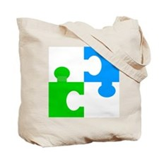 Cute Cow puzzle Tote Bag