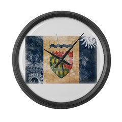 Northwest Territories Flag Large Wall Clock