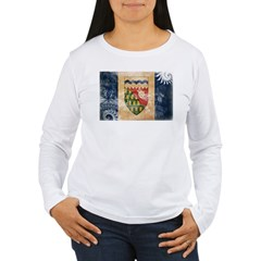 Northwest Territories Flag Women's Long Sleeve T-S