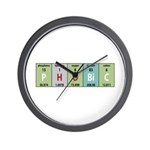 Chemistry Phobic Wall Clock