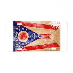 Ohio Flag Aluminum License Plate