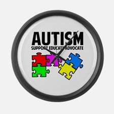 Autism Large Wall Clock