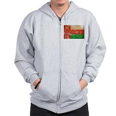 Oman Flag Zip Hoodie