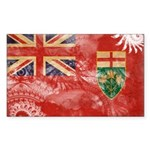 Ontario Flag Sticker (Rectangle 50 pk)