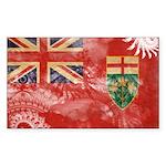 Ontario Flag Sticker (Rectangle 10 pk)