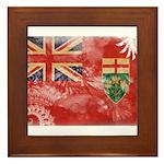 Ontario Flag Framed Tile