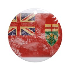 Ontario Flag Ornament (Round)