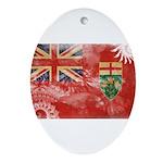Ontario Flag Ornament (Oval)