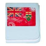 Ontario Flag baby blanket