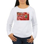 Ontario Flag Women's Long Sleeve T-Shirt