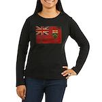 Ontario Flag Women's Long Sleeve Dark T-Shirt